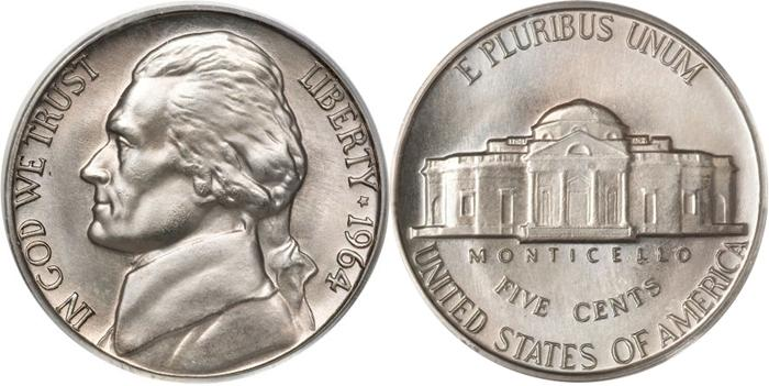 1964 Jefferson Nickel Image
