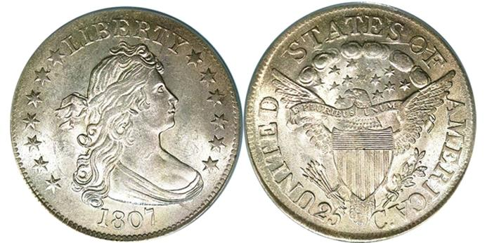 1807 Draped Bust Silver Quarter Image