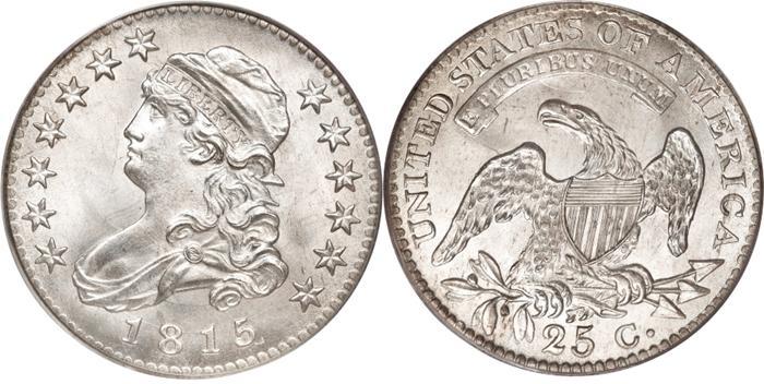 1815 Capped Bust Quarter Image