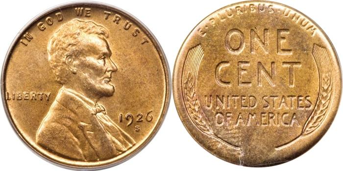 1926-S Lincoln Cent Wheat Image