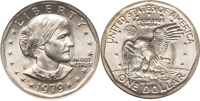 1979-P Susan B Anthony Dollar Wide Rim Image