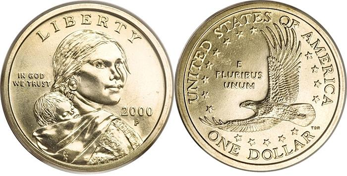 Most Valuable Sacagawea Small Dollar 2000 Date Coin Values