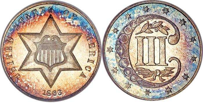 The most valuable Three Cent Silver values