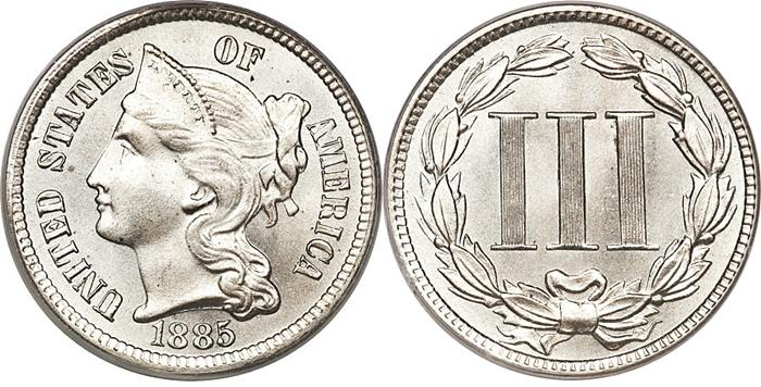 Most valuable Three Cent Nickel values