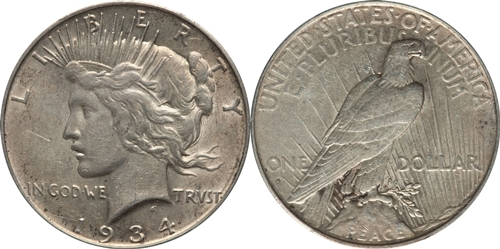 EF Grade Peace Dollar Image