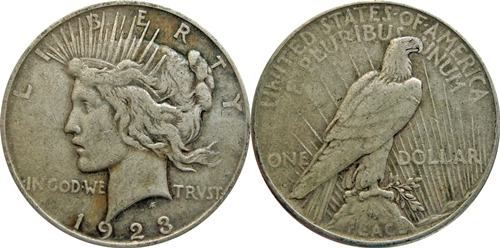 VF Grade Peace Dollar Image