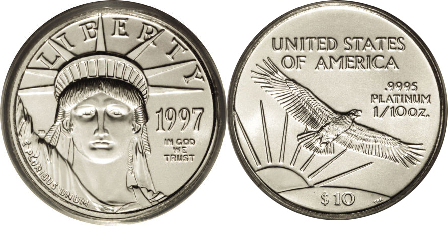 Most valuable $10 American Eagle Platinum Bullion values