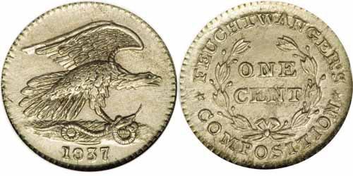 1837 Feuchtwanger Cent, NY