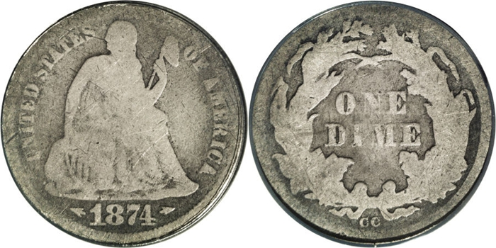 AG3 Seated Liberty Dime Image Grade