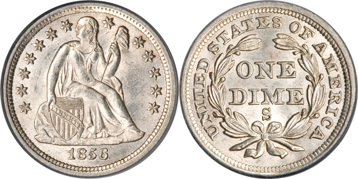 MS63 Grade Seated Liberty Dime Image