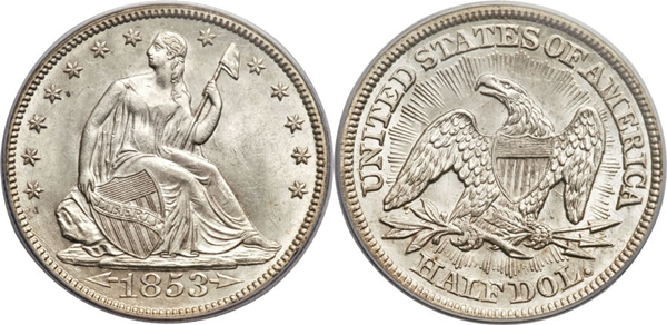 MS63 Grade Seated Dollar Image