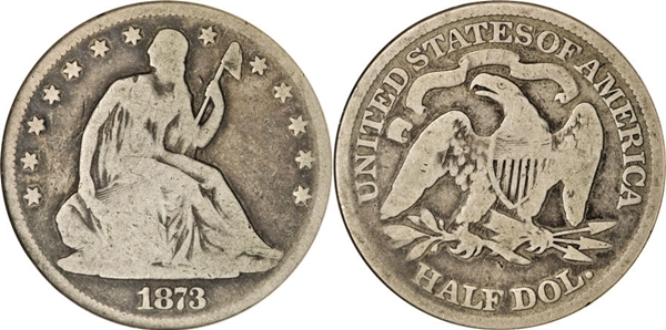 G4 Grade Seated Silver Half Dollar Image