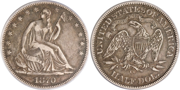 VF35 Grade Seated Half Dollar Image