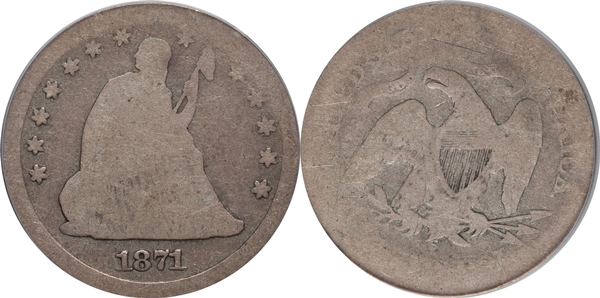 AG3 Grade Seated Silver Quarter Image
