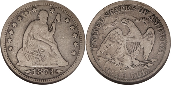 F12 Grade Seated Silver Quarter Image