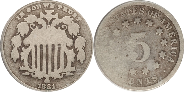 AG3 Grade Shield Nickel Image