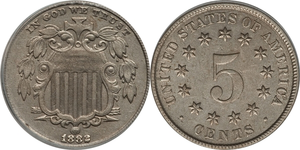 AU55 Grade Shield Nickel Image
