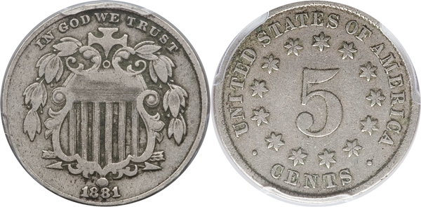 F12 Grade Shield Nickel Image