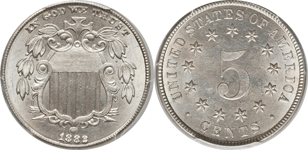 MS63 Grade Shield Nickel Image
