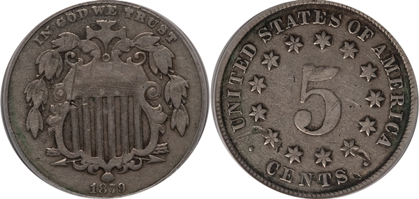 VG10 Grade Shield Nickel Image