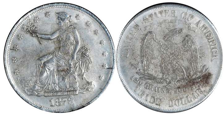1872 Trade Silver Dollar Image Fake/Counterfeit