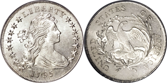 1795 Draped Bust Silver Dollar Coin Value Facts
