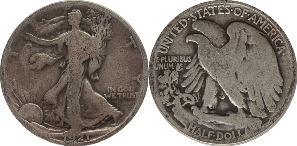 AG3 Grade Walking Liberty Half Dollar Image