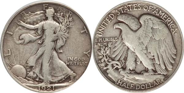 F12 Grade Walking Liberty Half Dollar Image