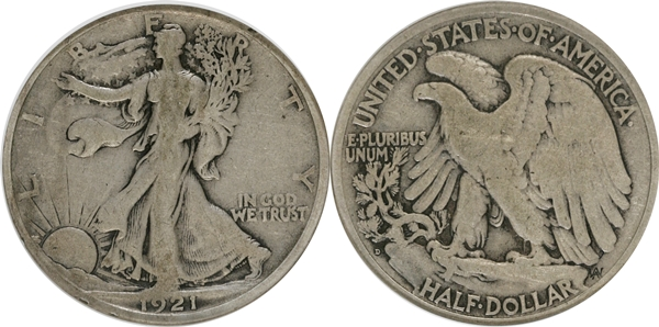 G6 Grade Walking Liberty Half Dollar Image