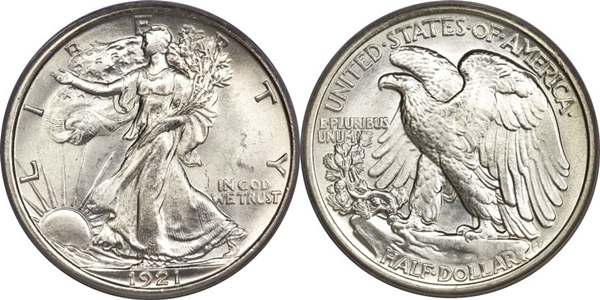MS63 Grade Walking Liberty Half Dollar Image