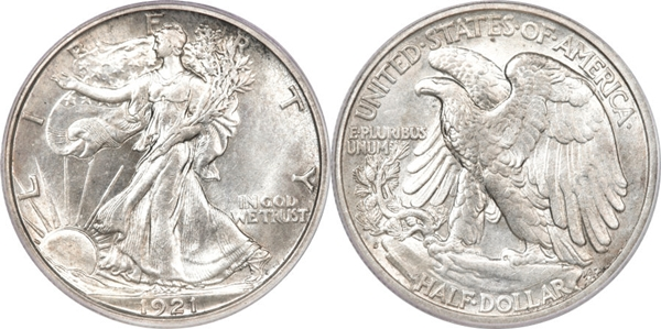 MS64 Grade Walking Liberty Half Dollar Image