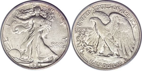 EF40 Grade Walking Liberty Half Dollar Image