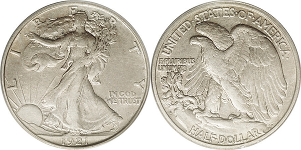 EF45 Grade Walking Liberty Half Dollar Image