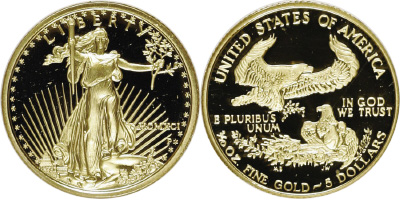 Most Valuable 5 Gold American Eagle Values