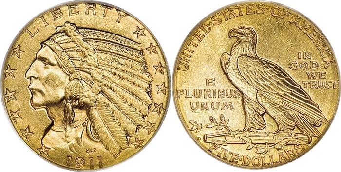 Most Valuable 5 Indian Head Gold Coin Values